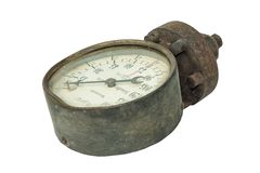 Παλαιός μετρητής πίεσης νερού στοκ εικόνες με δικαίωμα ελεύθερης χρήσης