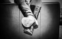παλαιός μποτών που κουράζεται Στοκ φωτογραφίες με δικαίωμα ελεύθερης χρήσης