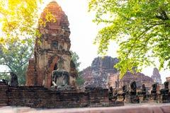 Παλαιός ναός αρχαίου στο ayutthaya Στοκ φωτογραφία με δικαίωμα ελεύθερης χρήσης