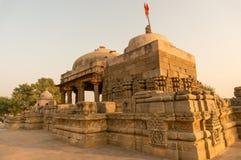 Παλαιός ναός πετρών σε Abhaneri που πυροβολείται στο σούρουπο στοκ φωτογραφία
