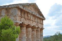Παλαιός ναός σε Segesta, Σικελία Στοκ φωτογραφία με δικαίωμα ελεύθερης χρήσης