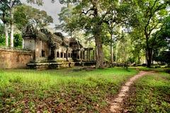 Παλαιός ναός, Angkor Wat στην Καμπότζη Στοκ φωτογραφία με δικαίωμα ελεύθερης χρήσης