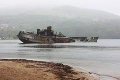 Παλαιός ξύλινος κόλπος Vityaz σκαφών της Ρωσίας Prymorye Στοκ φωτογραφία με δικαίωμα ελεύθερης χρήσης