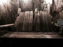 παλαιός ξύλινος πάγκων στοκ εικόνες