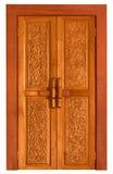 παλαιός ξύλινος πορτών γλυπτικών Στοκ φωτογραφία με δικαίωμα ελεύθερης χρήσης