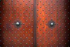παλαιός ξύλινος πορτών Στοκ φωτογραφίες με δικαίωμα ελεύθερης χρήσης
