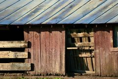 παλαιός ξύλινος σιταποθ&e στοκ εικόνα