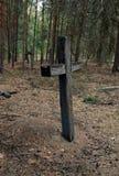 Παλαιός ξύλινος σταυρός Στοκ Φωτογραφίες