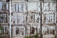 Παλαιός ξύλινος τοίχος αποφλοίωσης Στοκ Εικόνα