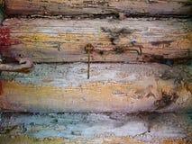 Παλαιός ξύλινος τοίχος σπιτιών Στοκ Φωτογραφία