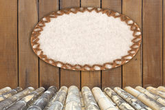 παλαιός ξύλινος υφάσματος φυσαλίδων στοκ εικόνες