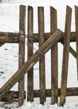 παλαιός ξύλινος φραγών Στοκ Φωτογραφίες