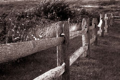 παλαιός ξύλινος φραγών Στοκ Φωτογραφία