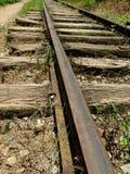Παλαιός οξυδωμένος σιδηρόδρομος Στοκ Εικόνες