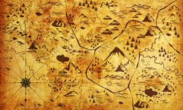 παλαιός πειρατής εγγράφου χαρτών ragged Ταπετσαρία φωτογραφιών για το εσωτερικό τρισδιάστατη απόδοση ελεύθερη απεικόνιση δικαιώματος