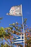 παλαιός πειρατής σημαιών Στοκ Φωτογραφίες