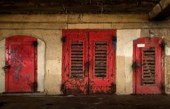 παλαιός πορτών που οξυδών&e Στοκ εικόνες με δικαίωμα ελεύθερης χρήσης