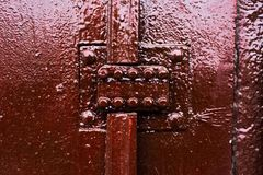 Παλαιός που χρωματίζεται πέρα από την αριθμητική κλειδαριά ασφάλειας πορτών Στοκ εικόνες με δικαίωμα ελεύθερης χρήσης