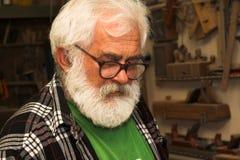 παλαιός πρεσβύτερος ατόμ&o Στοκ Εικόνες