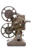 Παλαιός προβολέας ταινιών που απομονώνεται στο λευκό στοκ εικόνα