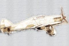 παλαιός προωστήρας αερο διανυσματική απεικόνιση