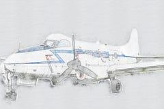 παλαιός προωστήρας αερο απεικόνιση αποθεμάτων