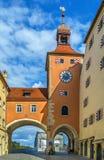 Παλαιός πύργος γεφυρών, Ρέγκενσμπουργκ Στοκ Φωτογραφία