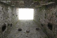 Παλαιός πύργος, καταστροφή, πόλης πύργος Porta Vittoria σε Como στη λίμνη Como Ιταλία Στοκ Εικόνες