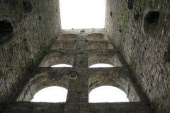 Παλαιός πύργος, καταστροφή, πόλης πύργος Porta Vittoria σε Como στη λίμνη Como Ιταλία Στοκ εικόνα με δικαίωμα ελεύθερης χρήσης