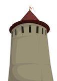 παλαιός πύργος φρουρίων διανυσματική απεικόνιση