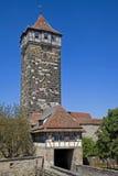 παλαιός πύργος rothenburg πυλών Στοκ φωτογραφία με δικαίωμα ελεύθερης χρήσης