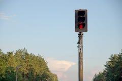 Παλαιός σηματοφόρος με το κόκκινο φως στοκ εικόνες με δικαίωμα ελεύθερης χρήσης