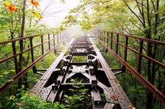 παλαιός σιδηρόδρομος γ&epsilo στοκ εικόνα