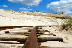 παλαιός σιδηρόδρομος σκουριασμένος Στοκ Εικόνα