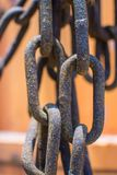 παλαιός σκουριασμένος αλυσίδων στοκ φωτογραφία με δικαίωμα ελεύθερης χρήσης