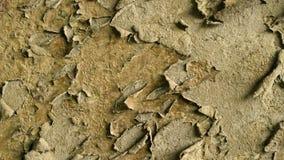 Παλαιός σκουριασμένος τοίχος Το ξηρό χρώμα σαπίζει και αφήνει τον τοίχο Υπόβαθρο τοίχων περιστροφής φιλμ μικρού μήκους