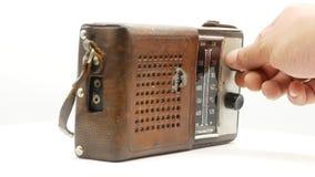 Παλαιός σοβιετικός εκλεκτής ποιότητας ραδιο δέκτης 4k φιλμ μικρού μήκους