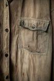 Παλαιός στενός επάνω πουκάμισων στοκ εικόνες με δικαίωμα ελεύθερης χρήσης