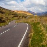 A93, παλαιός στρατιωτικός δρόμος, Σκωτία στοκ εικόνες