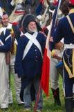 Παλαιός στρατιώτης στην ιστορική αναπαράσταση Borodino Στοκ φωτογραφία με δικαίωμα ελεύθερης χρήσης