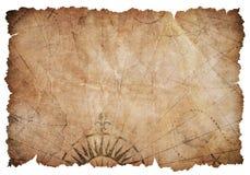Παλαιός σχισμένος χάρτης θησαυρών που απομονώνεται στοκ φωτογραφία με δικαίωμα ελεύθερης χρήσης