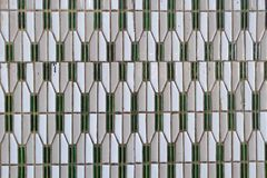 Παλαιός τοίχος κεραμικών κεραμιδιών Στοκ Εικόνα