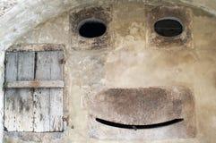 παλαιός τοίχος μορφής προσώπου Στοκ φωτογραφίες με δικαίωμα ελεύθερης χρήσης
