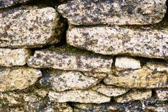 παλαιός τοίχος σύστασης πετρών ανασκόπησης Στοκ Εικόνα