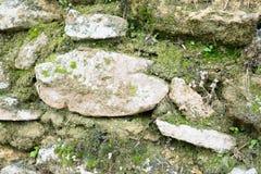 παλαιός τοίχος σύστασης πετρών ανασκόπησης Στοκ Εικόνες