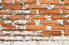 παλαιός τοίχος τεμαχίων τούβλου Στοκ εικόνες με δικαίωμα ελεύθερης χρήσης