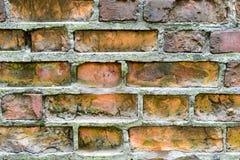 παλαιός τοίχος τούβλου Ανασκόπηση Grunge Στοκ Φωτογραφία