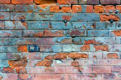 παλαιός τοίχος τούβλου Ανασκόπηση Grunge Στοκ Φωτογραφίες