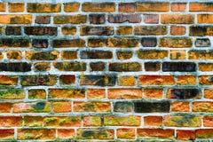 παλαιός τοίχος τούβλου Ανασκόπηση Grunge Στοκ Εικόνα