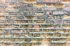 παλαιός τοίχος τούβλου Ανασκόπηση Grunge Στοκ εικόνα με δικαίωμα ελεύθερης χρήσης